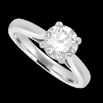 Platinum Diamond Solitaire Ring 1.00ct Engagement