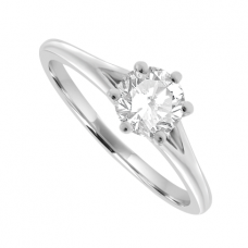Platinum Solitaire .50ct Diamond Ring