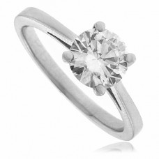 Platinum Solitaire Certified Diamond Solitaire Ring .93ct EVS1