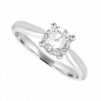 Platinum .70ct Diamond Solitaire Ring Engagement