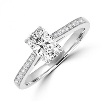 Platinum Phoenix cut Solitaire DVVS2 Diamond Ring