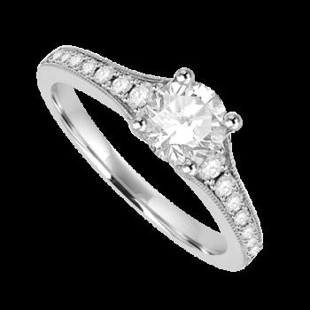 Platinum Solitaire .52ct Diamond Solitaire Ring