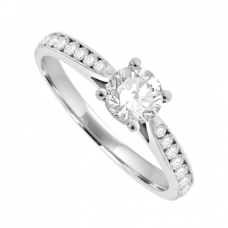 Platinum .85ct Solitaire GVS2 Diamond Engagement Ring