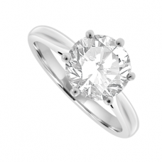 Platinum Solitaire 2.02ct Diamond Ring