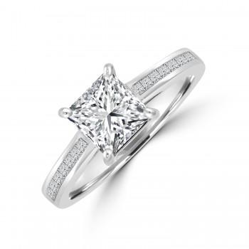 Platinum Princess GSi2 Diamond Ring