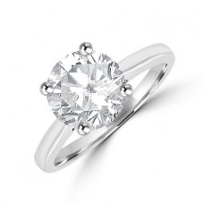 Platinum Solitaire 2.50ct Diamond Ring