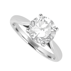 Platinum Solitaire 1.61ct Diamond Ring