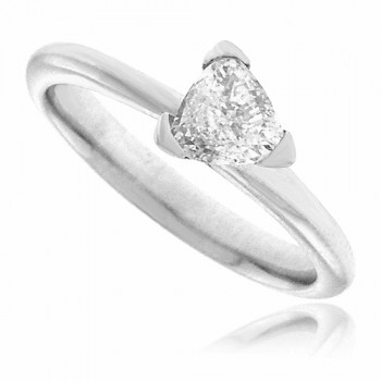 Platinum Trillion cut Diamond Solitaire Ring