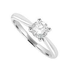 Platinum Solitaire .46ct Diamond Ring