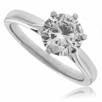 Platinum Solitaire 1.01ct Diamond Ring GSI2 Engagement