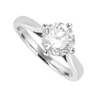 Platinum Solitaire 1.10ct Diamond Ring Engagement