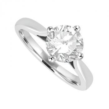 Platinum Solitaire 1.10ct Diamond Ring Engagement
