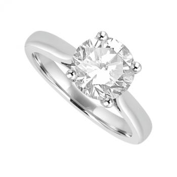 Platinum Solitaire 1.28ct Diamond Ring Engagement