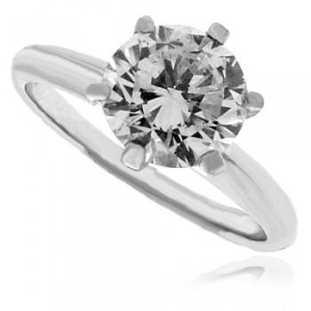 Platinum Solitaire HSi1 Diamond Ring
