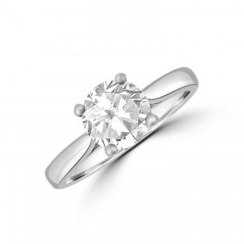 Platinum 1.54ct Diamond Solitaire Ring