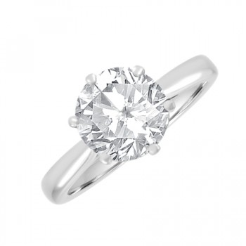 Platinum 2.02ct Solitaire GSi2 Diamond Ring