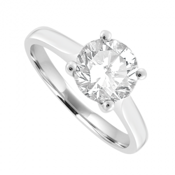 Platinum Solitaire 1.26ct Diamond Ring