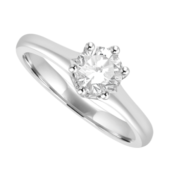 Platinum Solitaire .60ct Diamond Ring