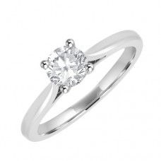 Platinum Solitaire HVVS2 Diamond Ring