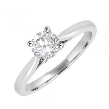 Platinum Solitaire HVVS2 Diamond Ring