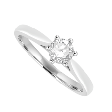 Platinum Solitaire .40ct Diamond Ring