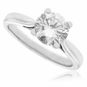 Platinum Solitaire Diamond Ring 1.00ct