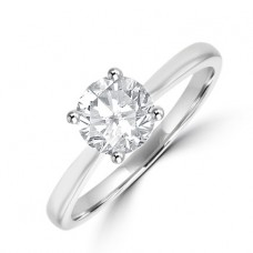 Platinum .88ct Solitaire ESi1 Diamond Riing