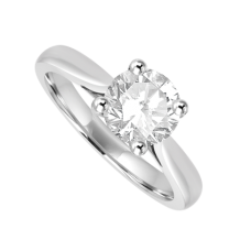 Platinum Solitaire .96ct Diamond Ring