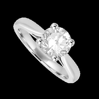 Platinum Solitaire .96ct Diamond Ring