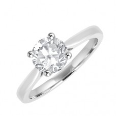 Platinum Solitaire Diamond Engagement Ring