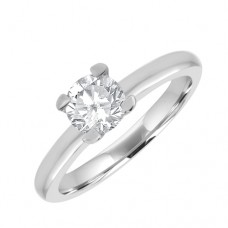 Platinum 'Tulip' Solitaire GSi1 Diamond Ring