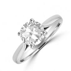 Platinum Solitaire Diamond Ring