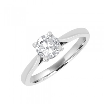 Platinum .64ct Solitaire GVS2 Diamond Ring