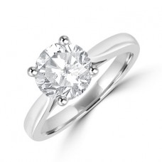 Platinum Solitaire 1.52ct Diamond Ring