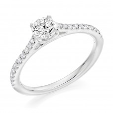 Platinum Solitaire DVVS2 Diamond Ring