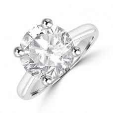 Platinum Solitaire 4.02ct Diamond Ring