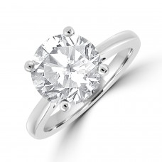 Platinum Solitaire 3.45ct Diamond Ring