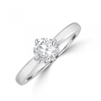 Platinum .63ct Diamond Compass Solitaire Ring