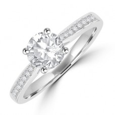 Platinum .85FSi1 Diamond Solitaire Ring
