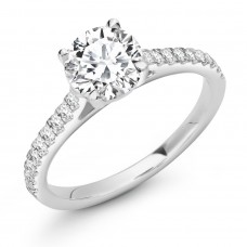 Platinum Solitaire 1.10ct HSi2 Diamond Ring
