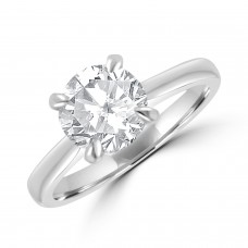 Platinum 1.40ct Solitaire HVS1 Diamond Ring