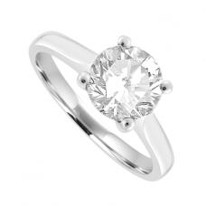 Platinum 1.40ct Solitaire HVS1 Diamond Ring