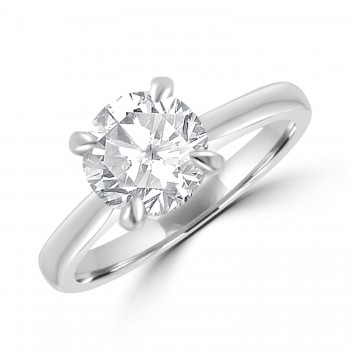 Platinum Solitaire HVS1 Diamond Ring