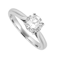 Platinum Solitaire .80ct IVVS2 Diamond Ring