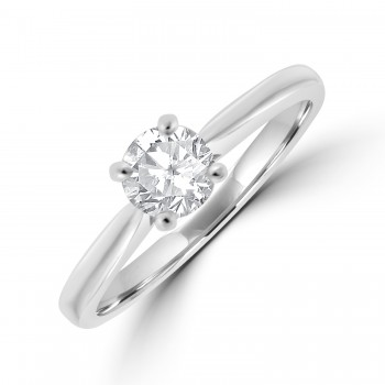 Platinum Solitaire FVS1 Diamond Ring