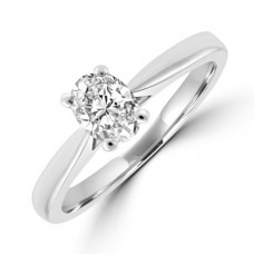 Platinum Oval cut Solitaire .50EVS1 Diamond Ring