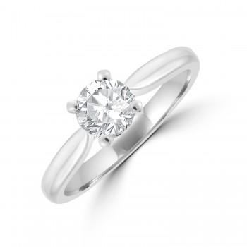 Platinum Solitaire ESi1 Diamond Ring