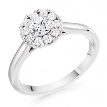 Platinum 10x1 Diamond Cluster Ring