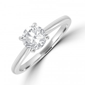 Platinum Solitaire FVS2 Diamond Ring