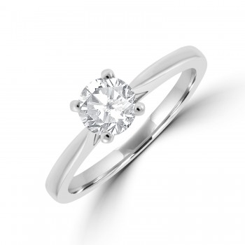 Platinum Solitaire EVS2 Diamond Ring